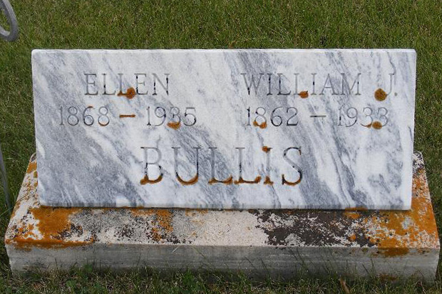 gravestone: William & Ellen Bullis