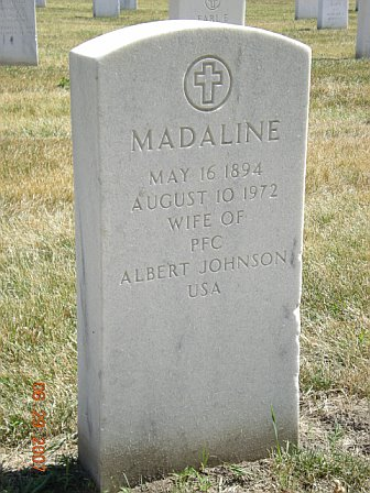 gravestone: 1972  Madaline Johnson