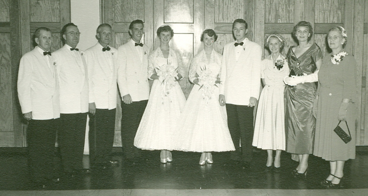 1952 double wedding-Marnie Branch & Audie Williams