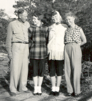 1954 Lu & Ade & daughters