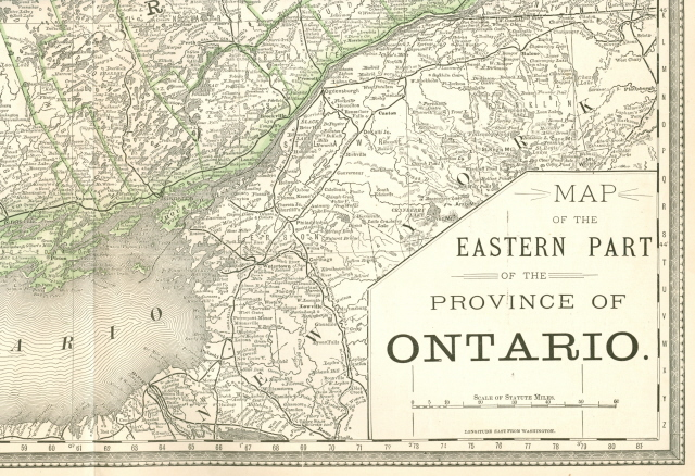 old map of Ontario Canada
