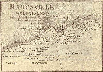 1860 map of Marysville