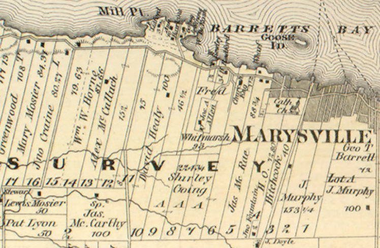 1878 map of Marysville