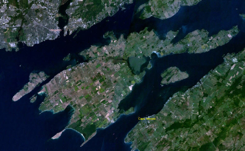 NASA image of Wolfe Island ON
